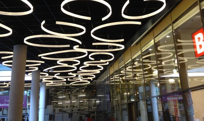 almere shopping centre acrylic lighting