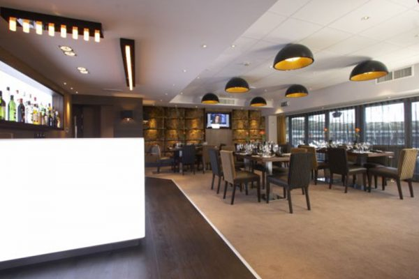 hull city chairman's suite acrylic bar