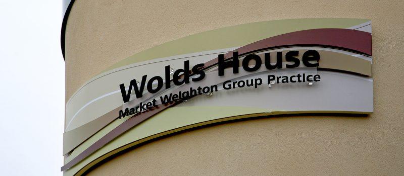 wolds house acrylic signage