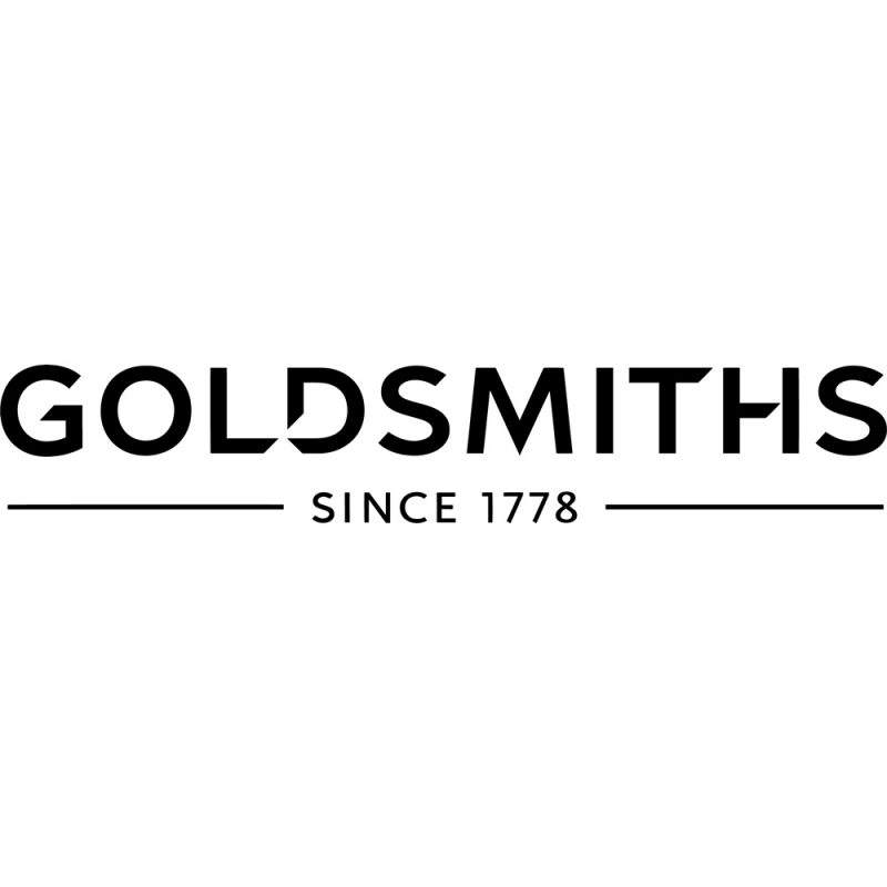 goldsmiths black logo white background