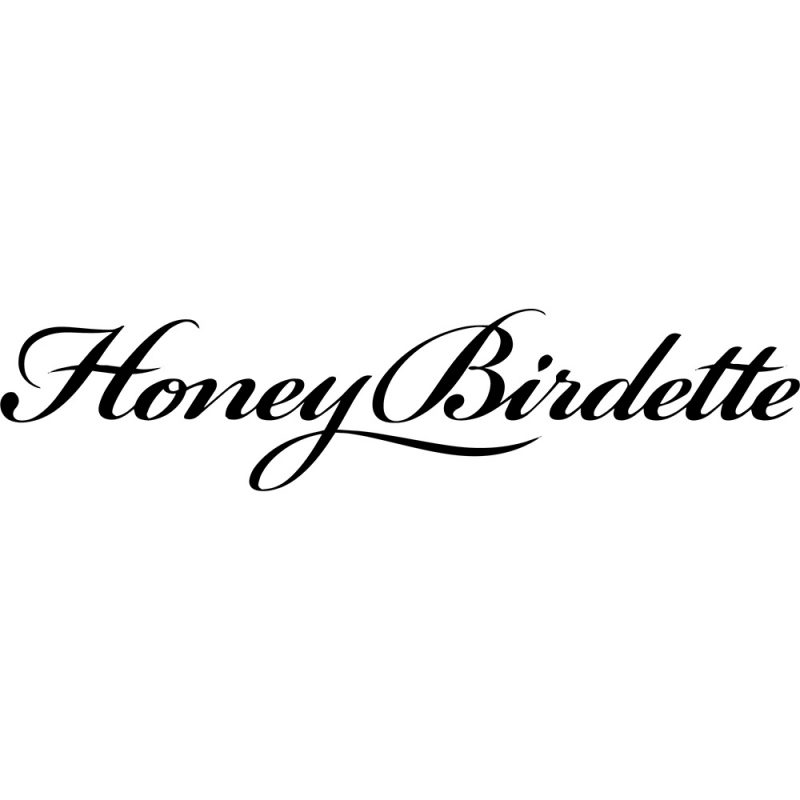 honey birdette black logo white background