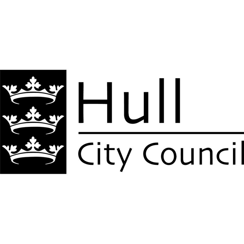 hull city council black logo white background