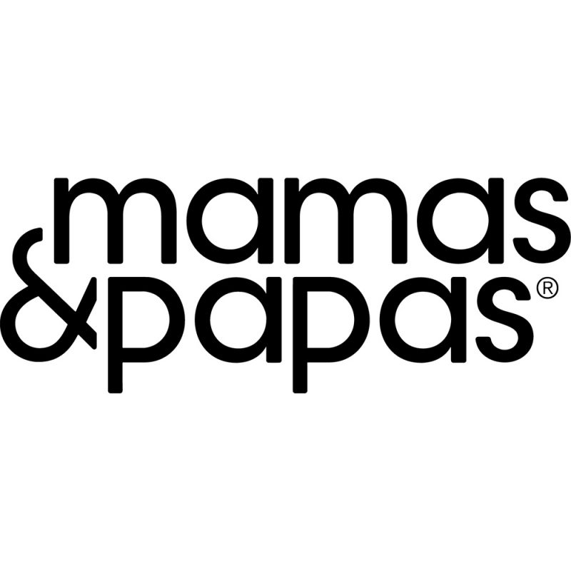 mamas & papas black logo white background