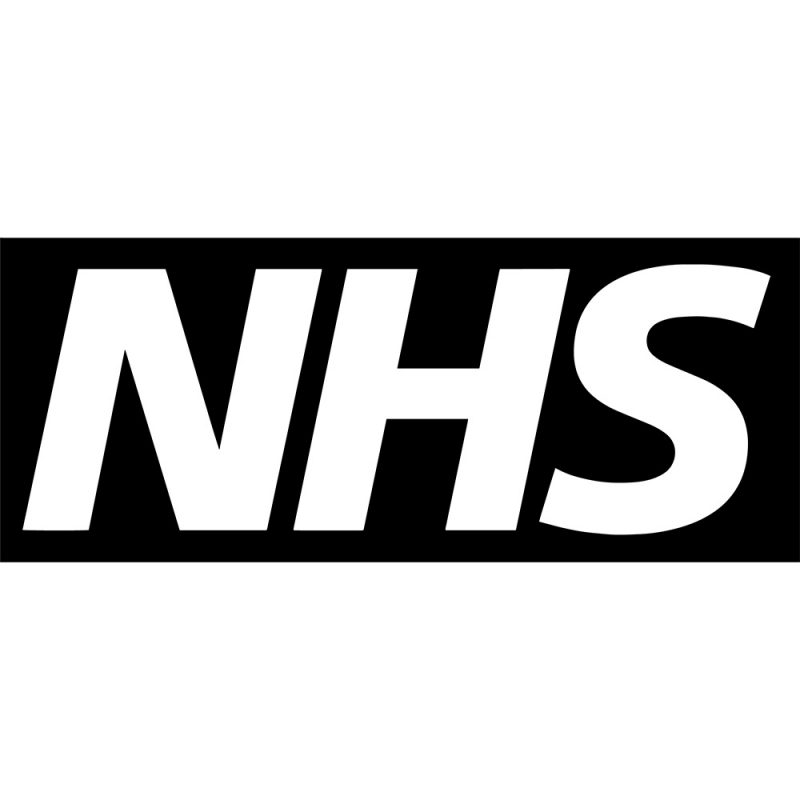 nhs black logo white background