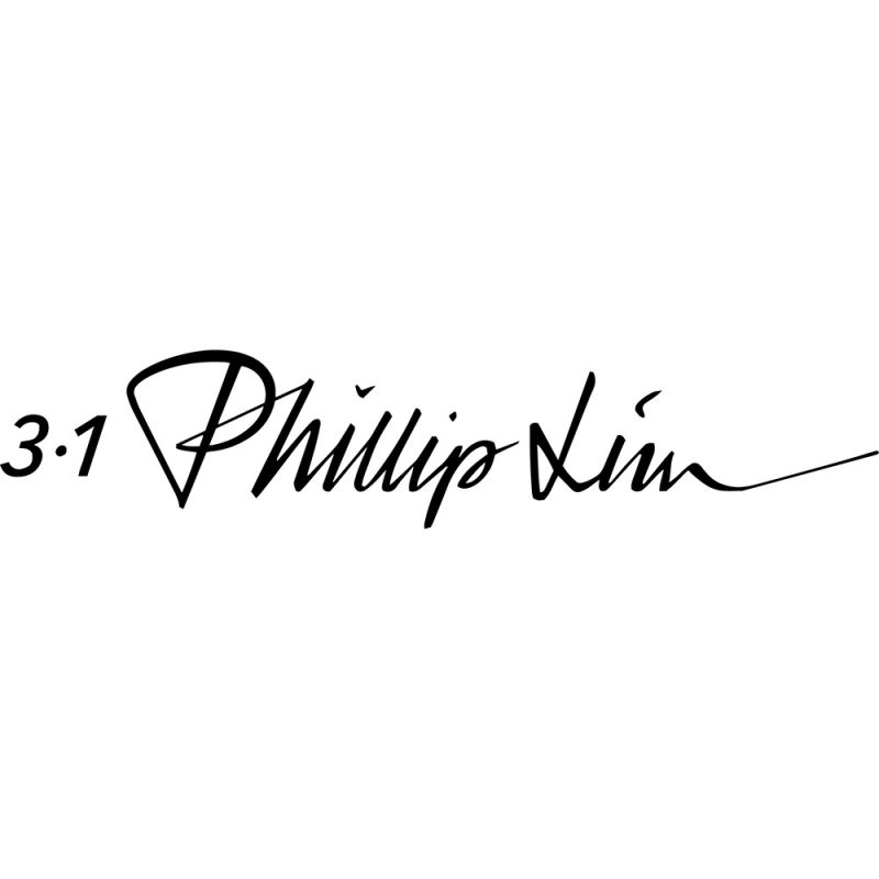 philip lim black logo white background