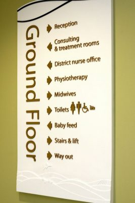 acrylic ground floor direction signs