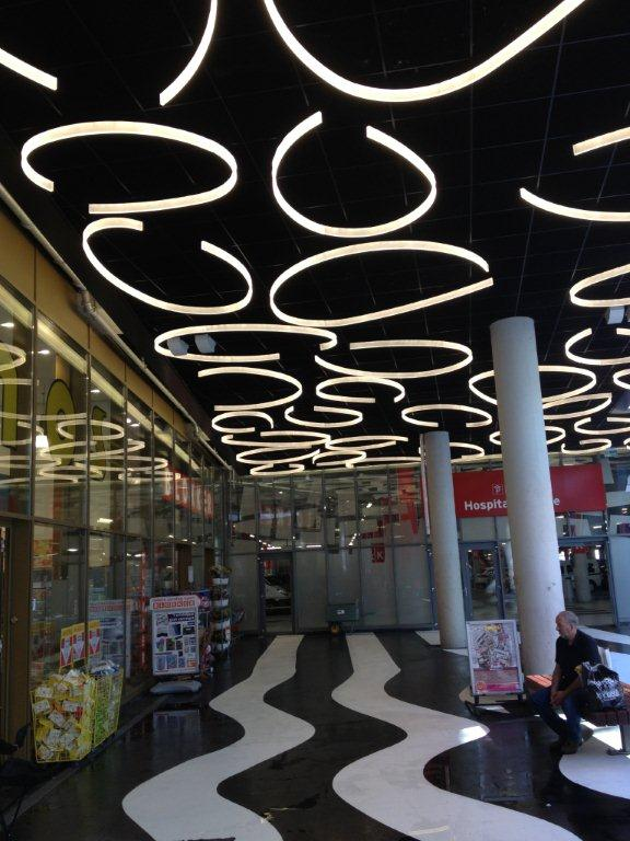 almere shopping centre acrylic lighting fixtures