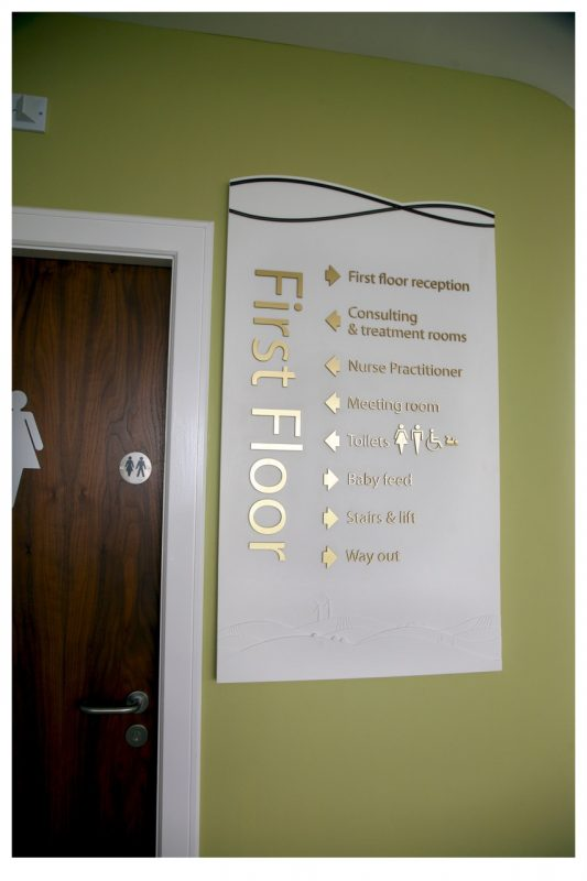 first floor acrylic corian signs