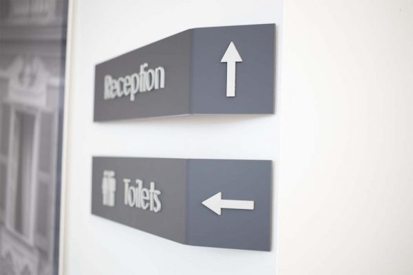 3d way finder toilet signs