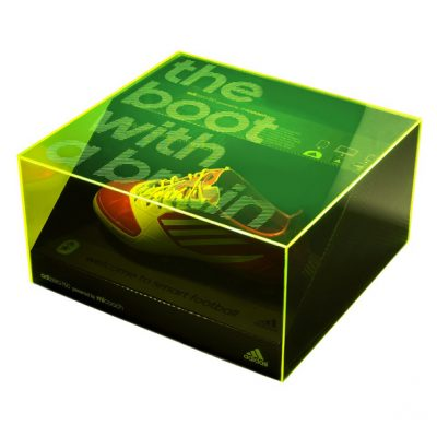 adidas micoach green acrylic presentation case