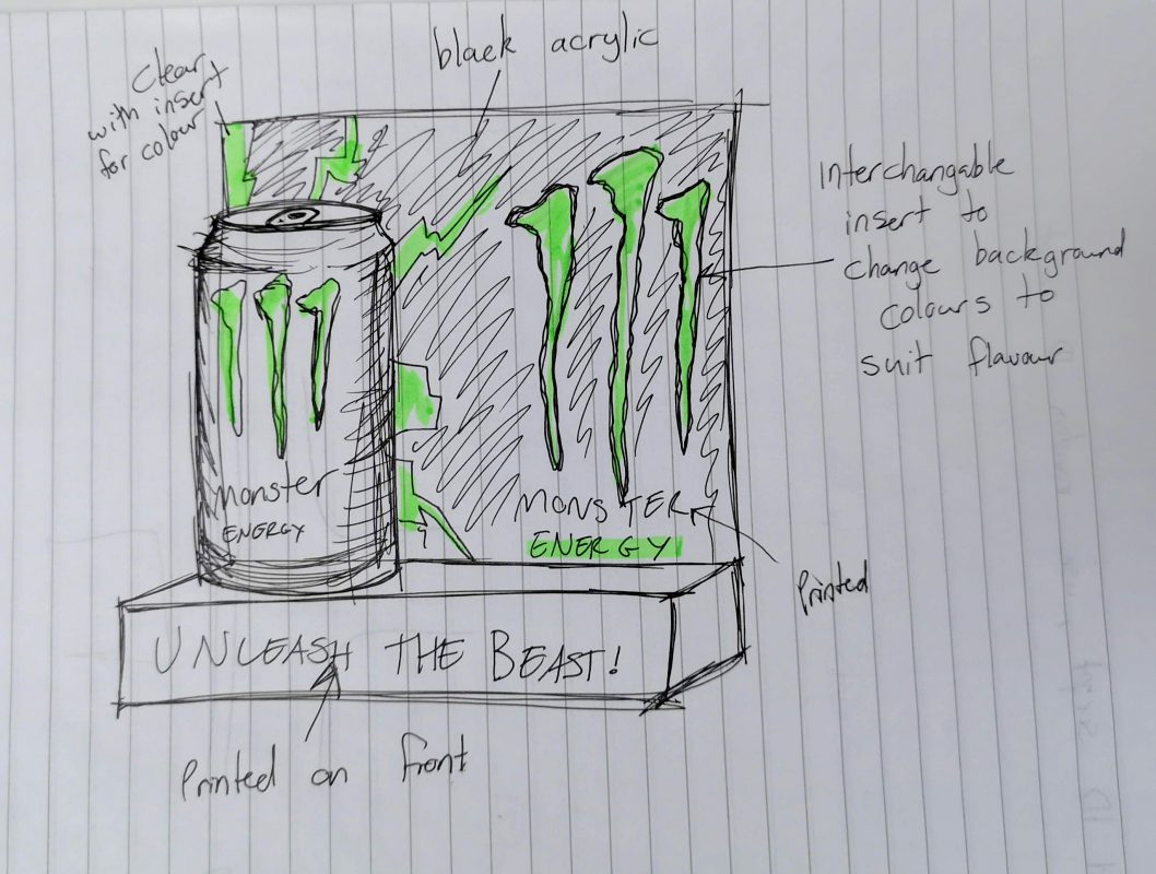 monster energy concept sketch case study