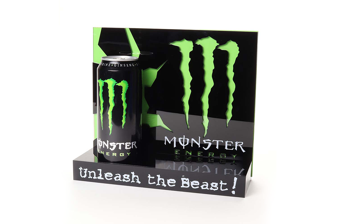 monster energy green banner
