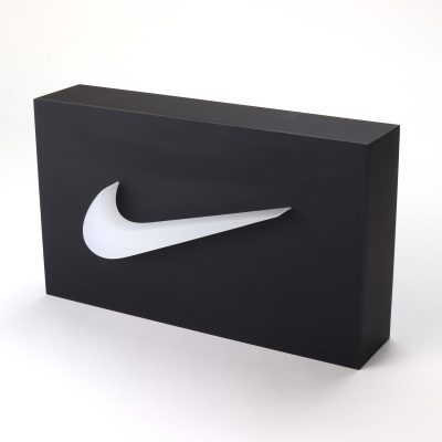 nike acrylic branding block