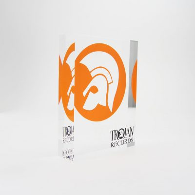 trojan records acrylic trophy
