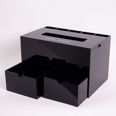 bobbi brown acrylic tissue caddy