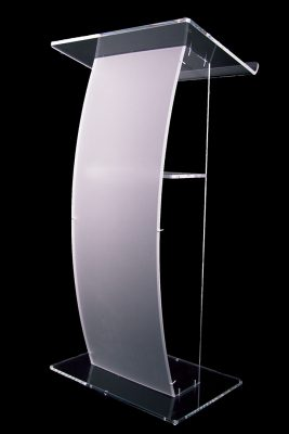 forst curve front acrylic lecturn