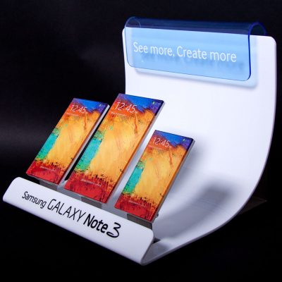 samsung acrylic cdu phone display